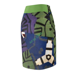 Looking 4 Marilyn Women's Pencil Skirt - Art by Zana