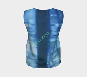SHADESOF BLUE - Loose fitting Top - Art by Zana
