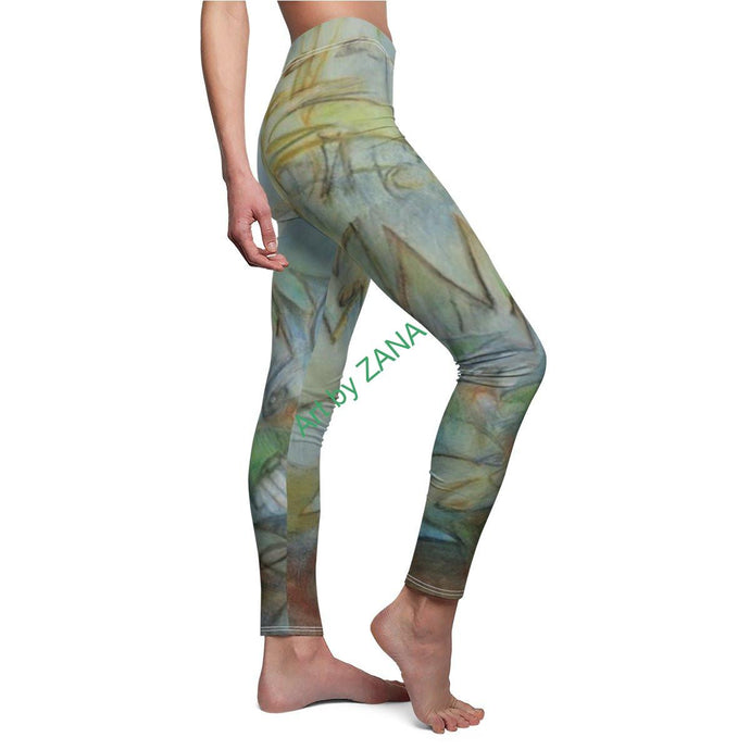 ABSTRACT Women's Cut & Sew Casual Leggings - Art by Zana