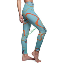 Load image into Gallery viewer, COSMIC Strings 2 Women's Cut & Sew Casual Leggings - Art by Zana
