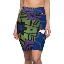 Load image into Gallery viewer, Looking 4 Marilyn Women's Pencil Skirt - Art by Zana