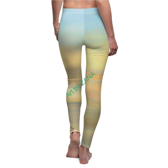 FRESH Sunset Women's Cut & Sew Casual Leggings - Art by Zana
