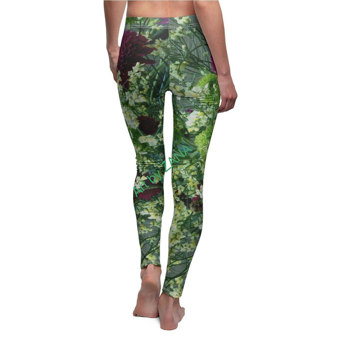 FRESH Floral Women's Cut & Sew Casual Leggings - Art by Zana