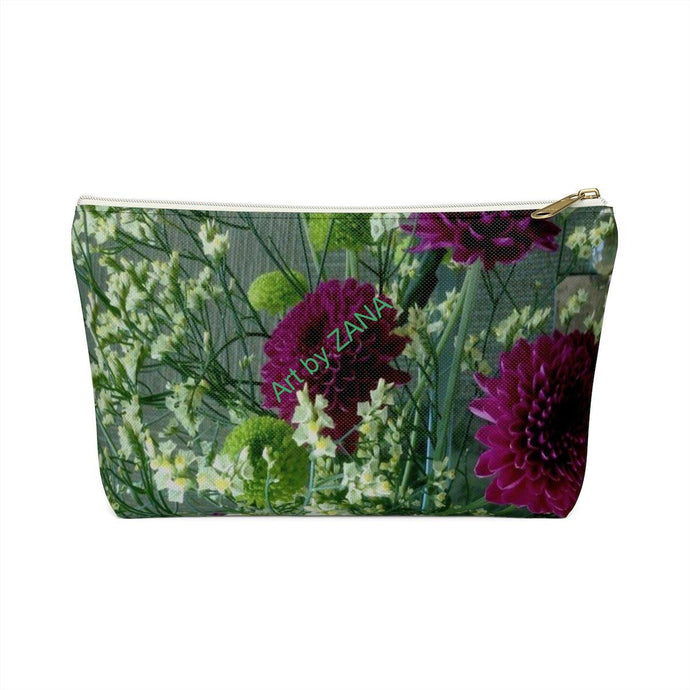 FRESH FLoral Accessory Pouch w T-bottom - Art by Zana