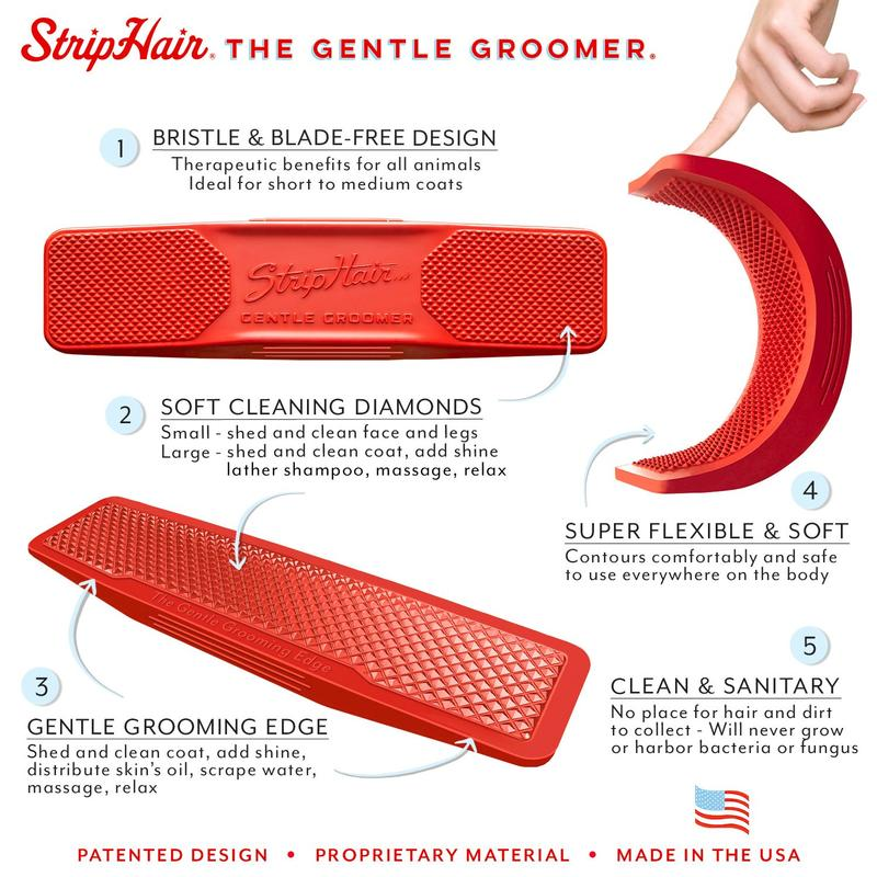 Strip Hair Gentle Groomer - For Sensitive Pets