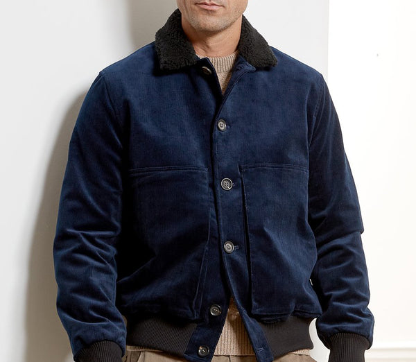 LINFIELD JACKET PENTON CORD NAVY by Oliver Spencer