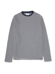 OLIVER SPENCER LONG SLEEVE T-SHIRT DARLY NAVY