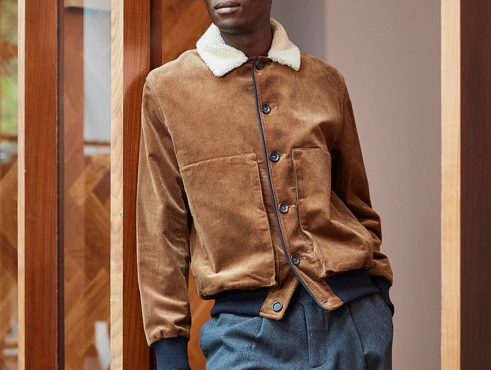 Corduroy Linfield Jacket by Oliver Spencer