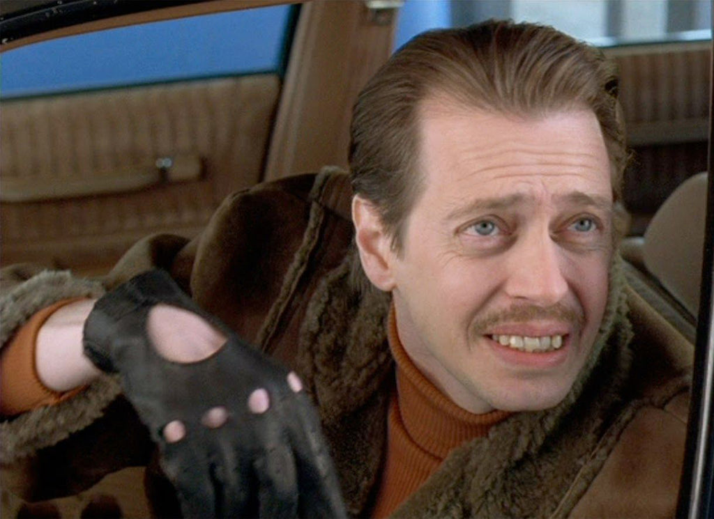 Steve Buscemi playing Carl Showalter in Fargo.