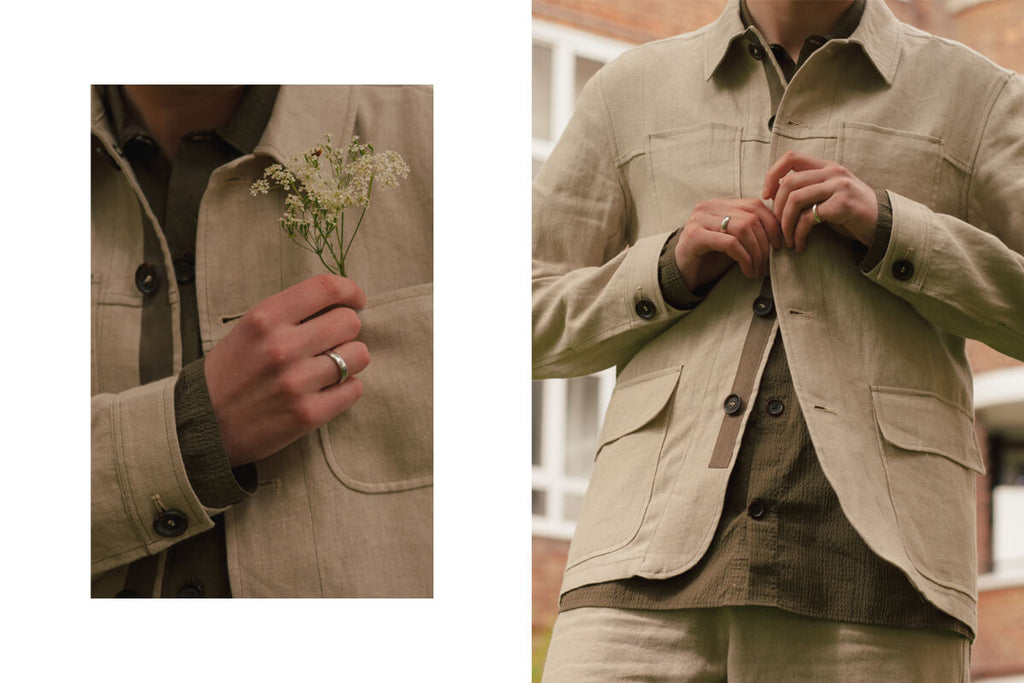 Linen clothing by Oliver Spencer.