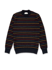 Multicoloured striped jumper in extrafine wool by Oliver Spencer.
