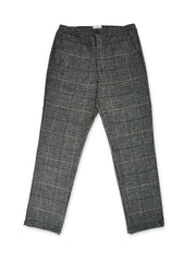 Grey Prince of Wales check trousers for men by Oliver Spencer.