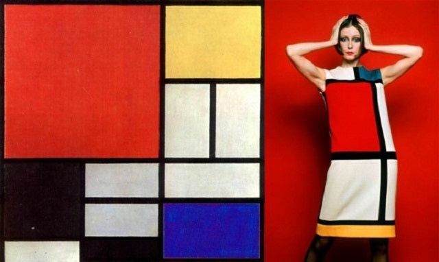 Colour blocking Mondrian dress by Yves Saint Laurent