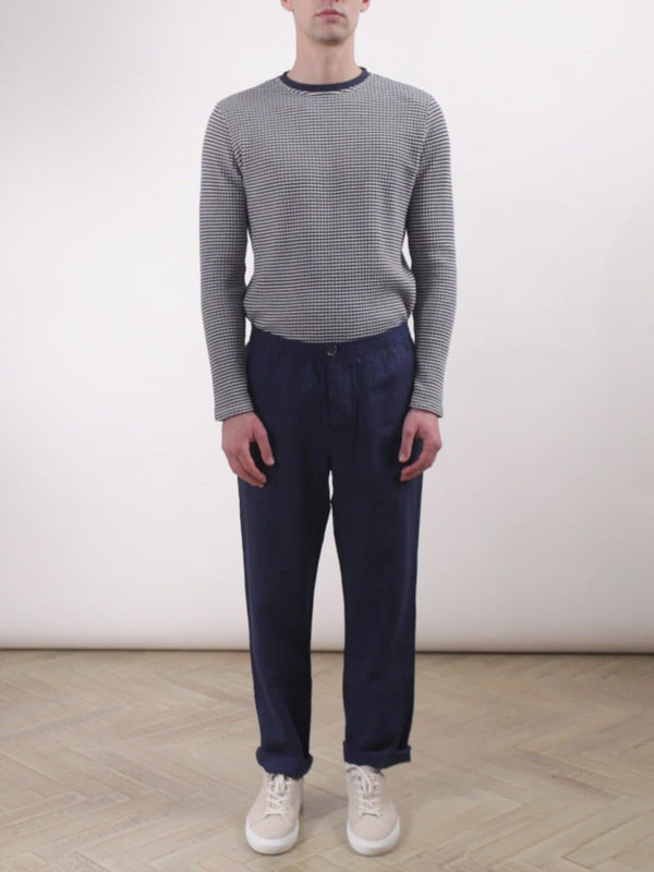 Drawstring Trousers Evering Navy