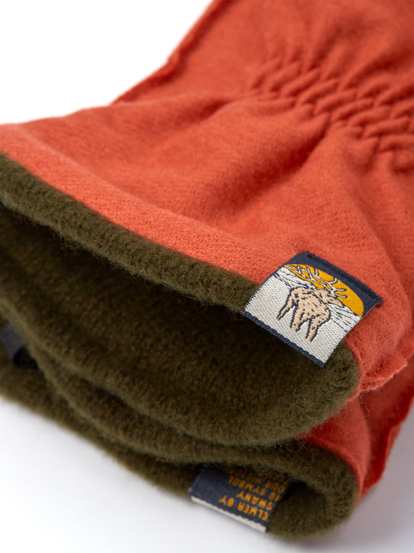 Elmer Wool/Cashmere Lined Glove Orange