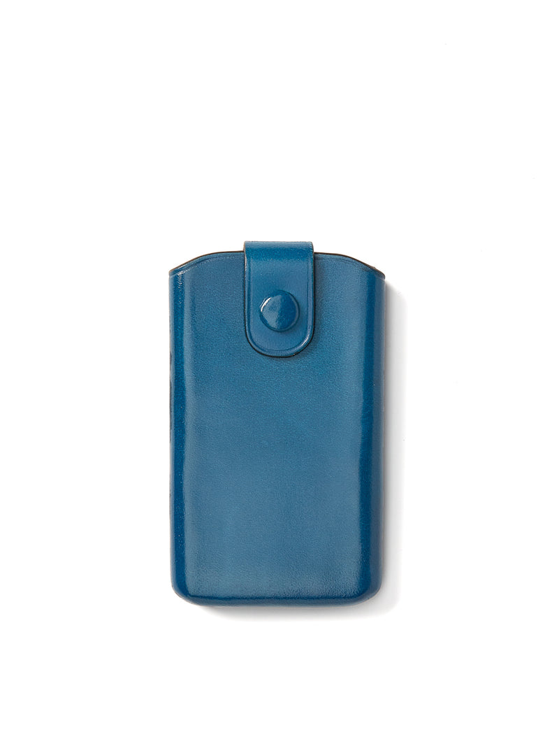 Il Bussetto Business Card Holder Sliding Flap Blue