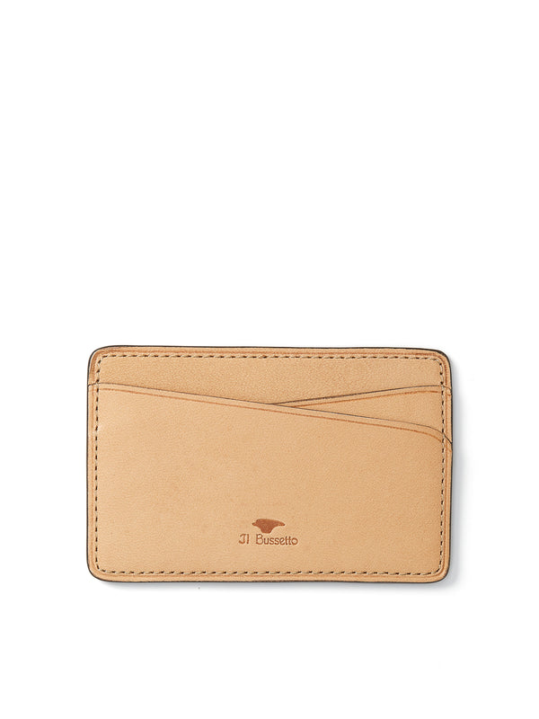 Il Bussetto Blue Leather Slimline Card Holder