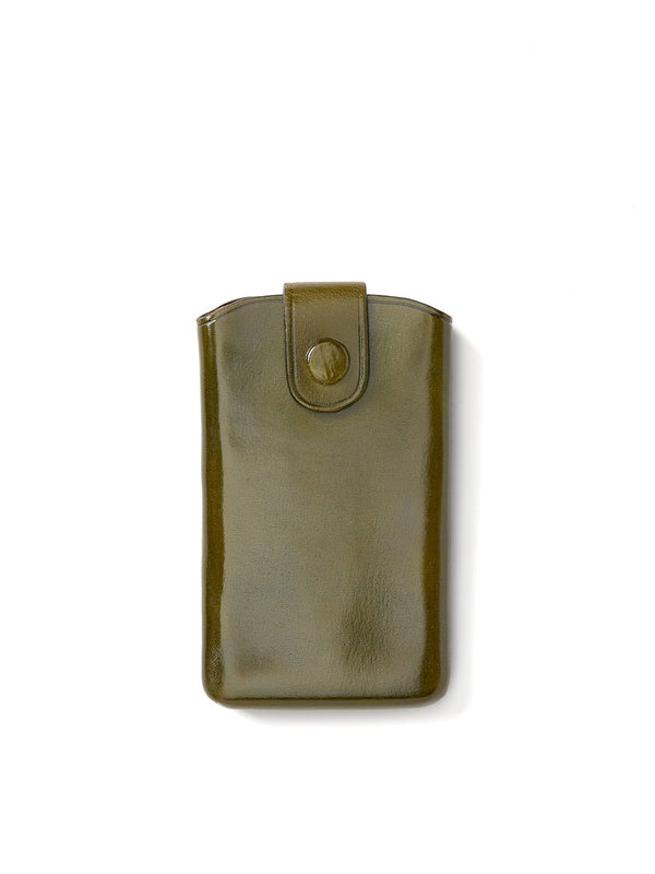 Il Bussetto Business Card Holder Sliding Flap Dark Green