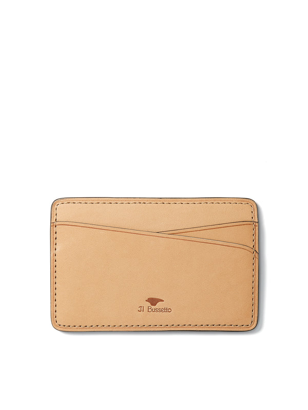Il Bussetto Dark Green Leather Slimline Card Holder