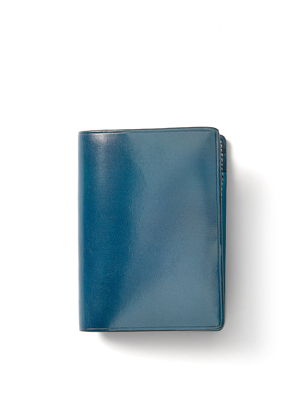Il Bussetto Bi-Fold Card Case Blue Multi