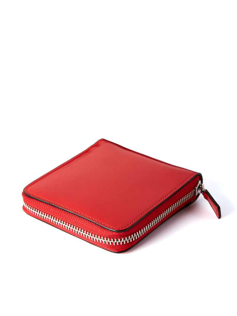 Il Bussetto Bi-Fold Zip Wallet Red Leather