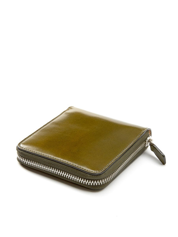 Il Bussetto Bi-Fold Zip Wallet Dark Green Leather