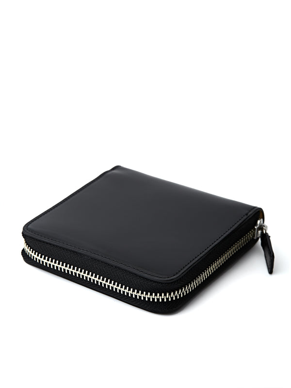 Il Bussetto Bi-Fold Zip Wallet Black Leather