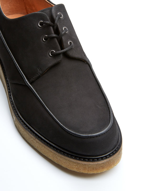 Hoxton Shoes Black Nubuck Leather
