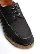 Hoxton Shoes Leather Nubuck Black