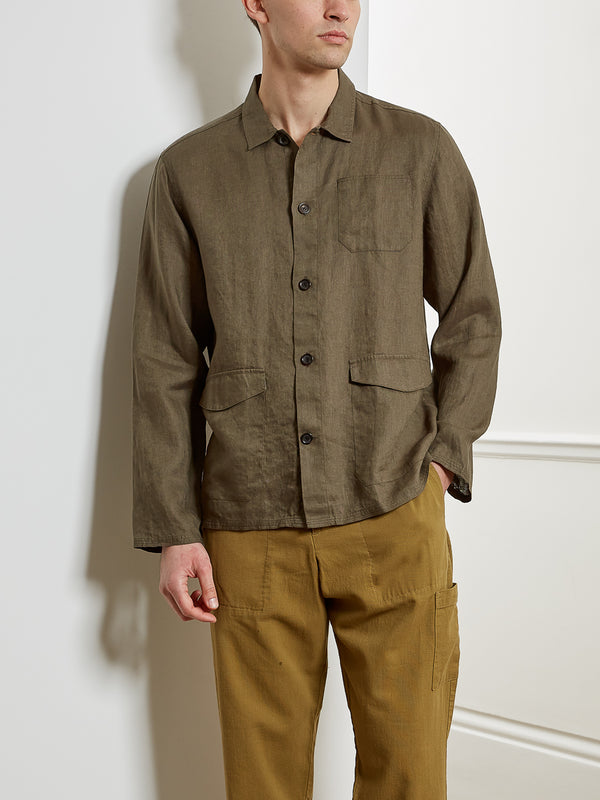 Hockney Shirt Jacket Bridford Green