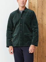 Hockney Shirt Jacket Penton Cord Racing Green