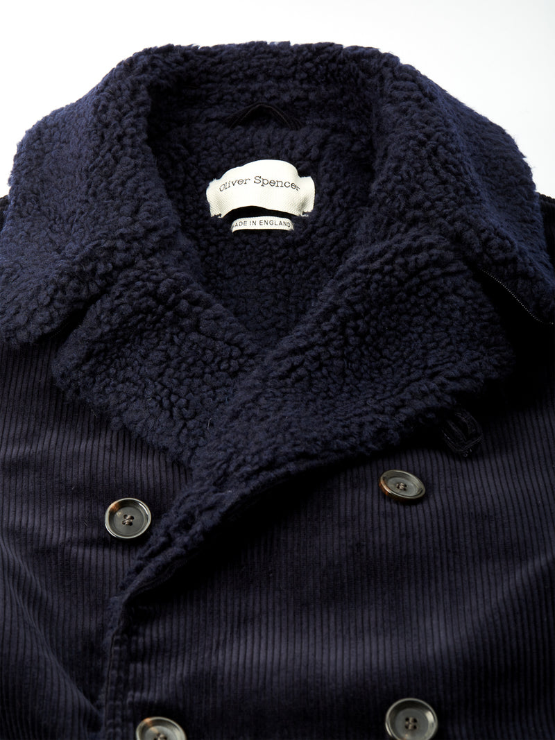 Newington Coat Kingsley Cord Navy