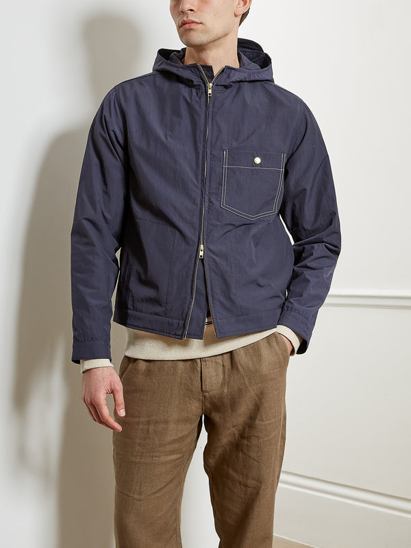 Hooded Ventnor Jacket Bickerton Navy