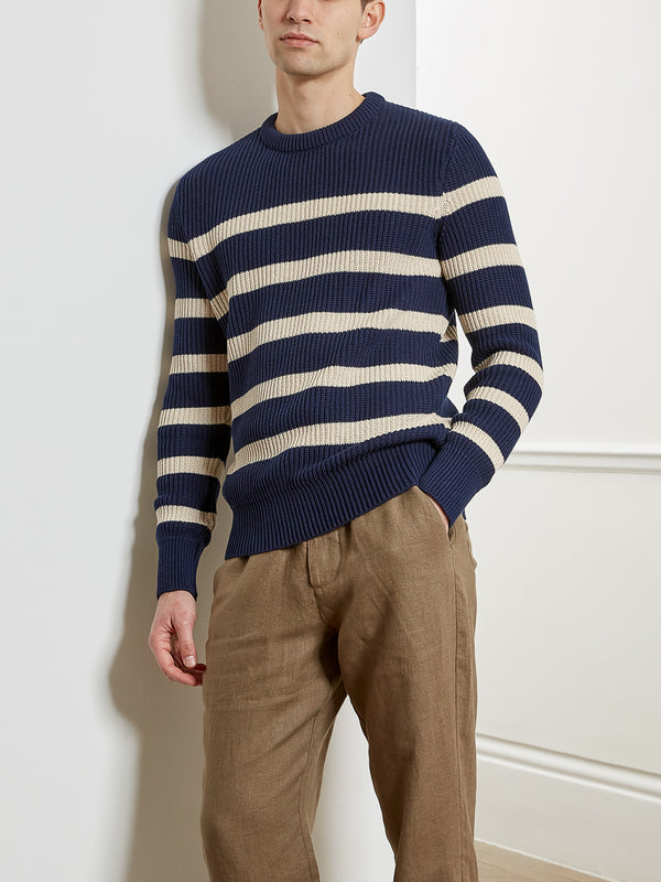 Blenheim Jumper Sidney Navy/Ecru