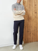 Talbot Roll Neck Jumper Basing Ecru
