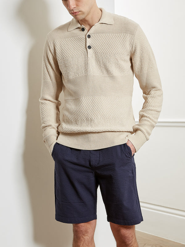 Pablo Knitted Polo Ferry Ecru