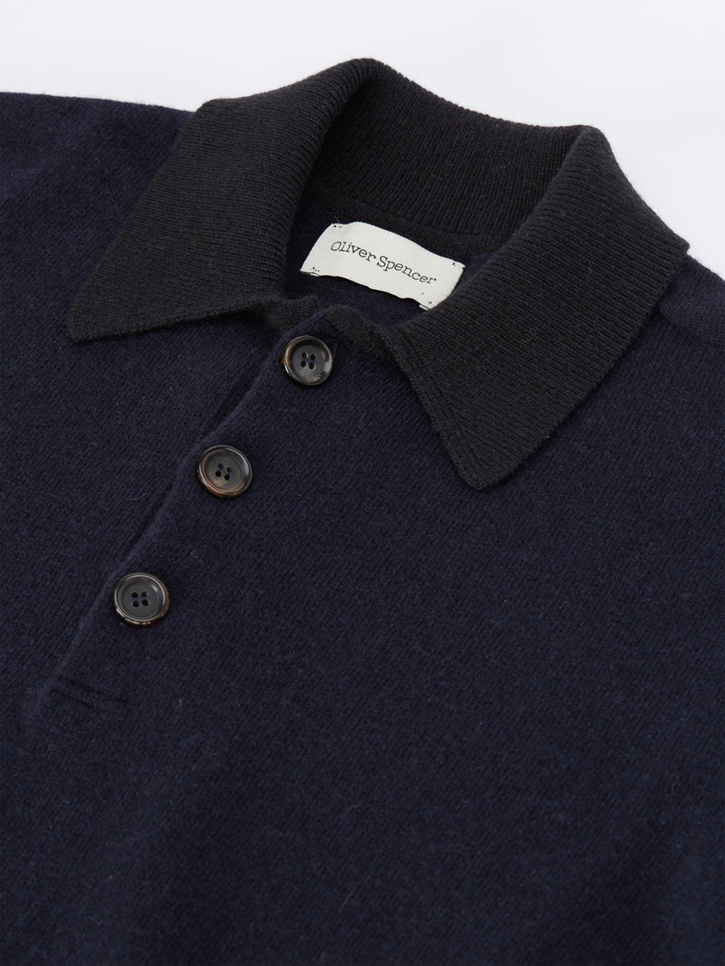 Pablo Knitted Polo Alves Navy