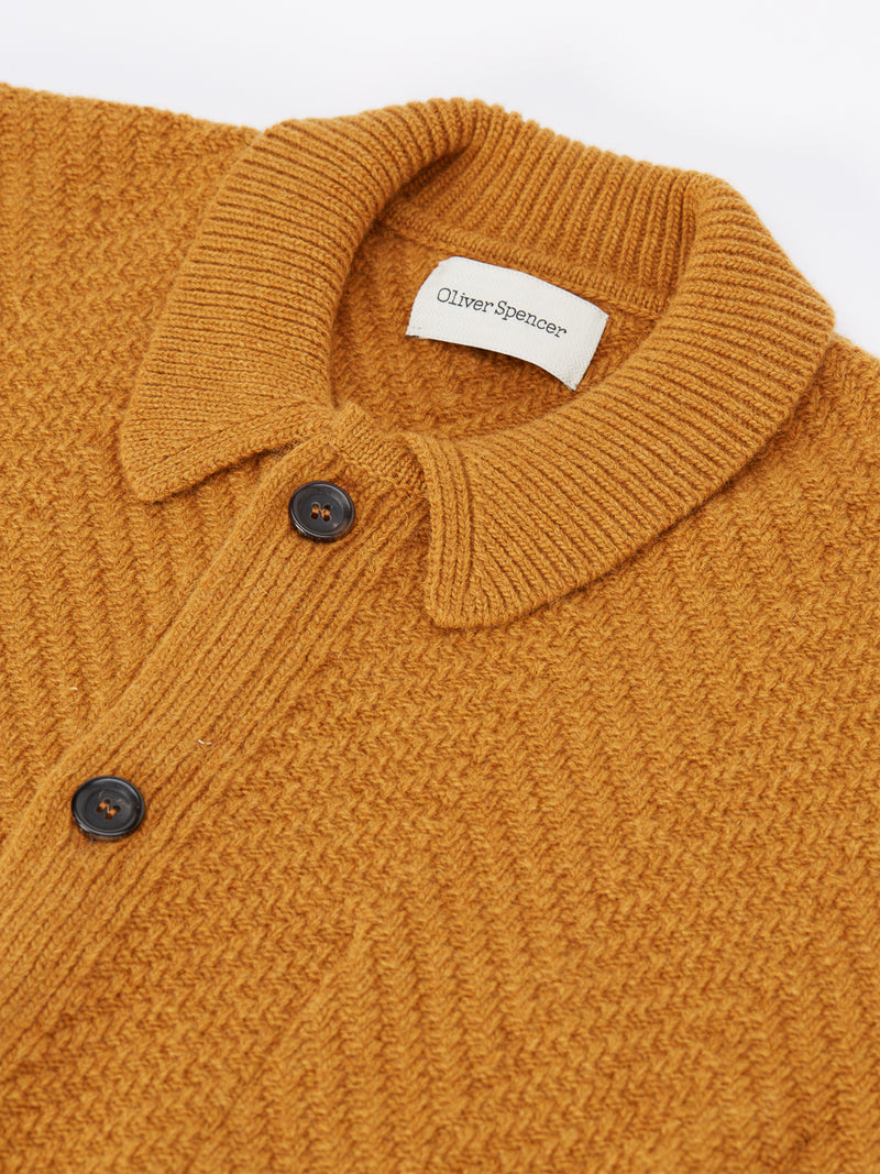 Britten Cardigan Fairway Ochre