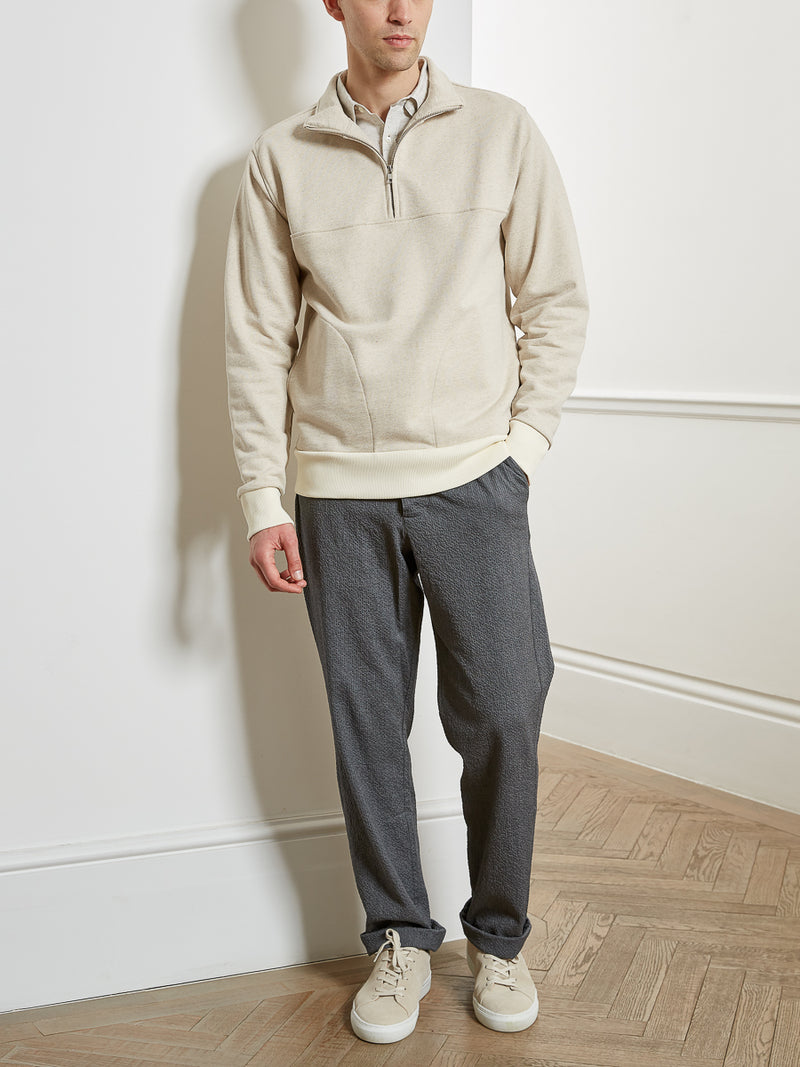 Half Zip Sweatshirt Sutton Oatmeal