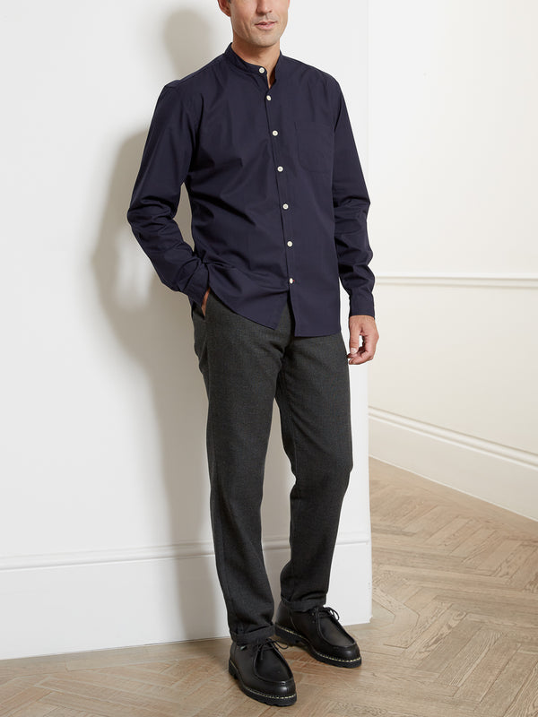 Grandad Shirt Abbott Navy