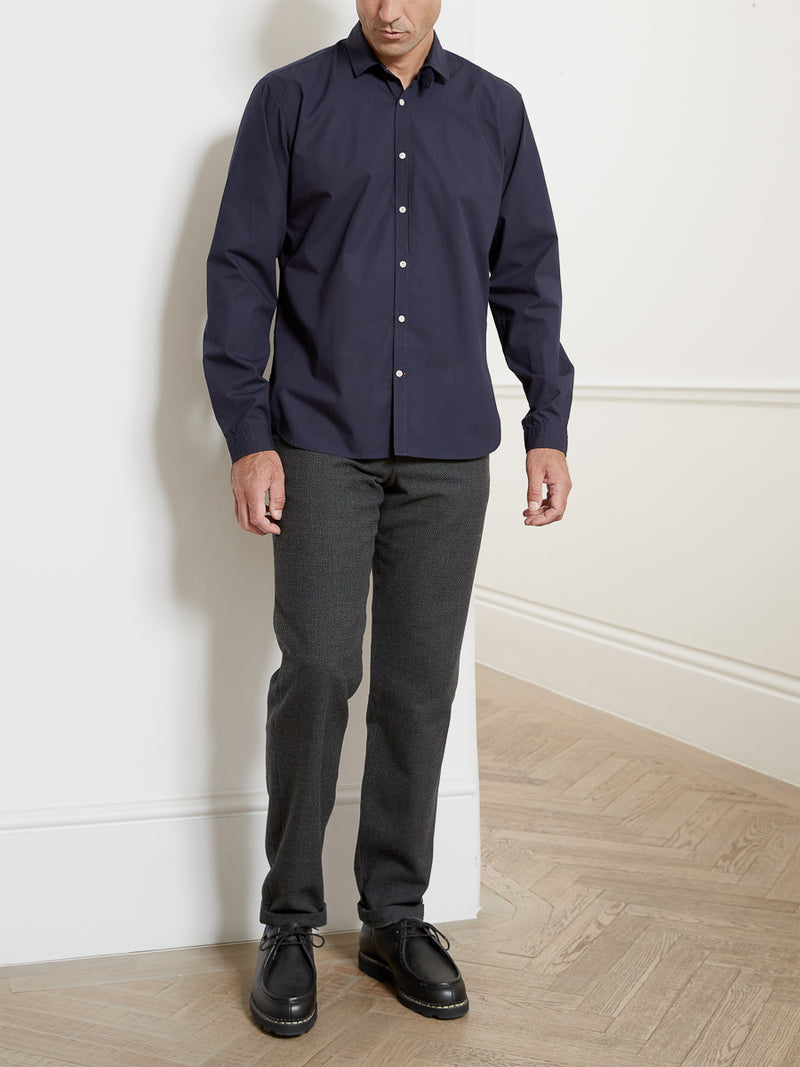 Clerkenwell Tab Shirt Abbott Navy