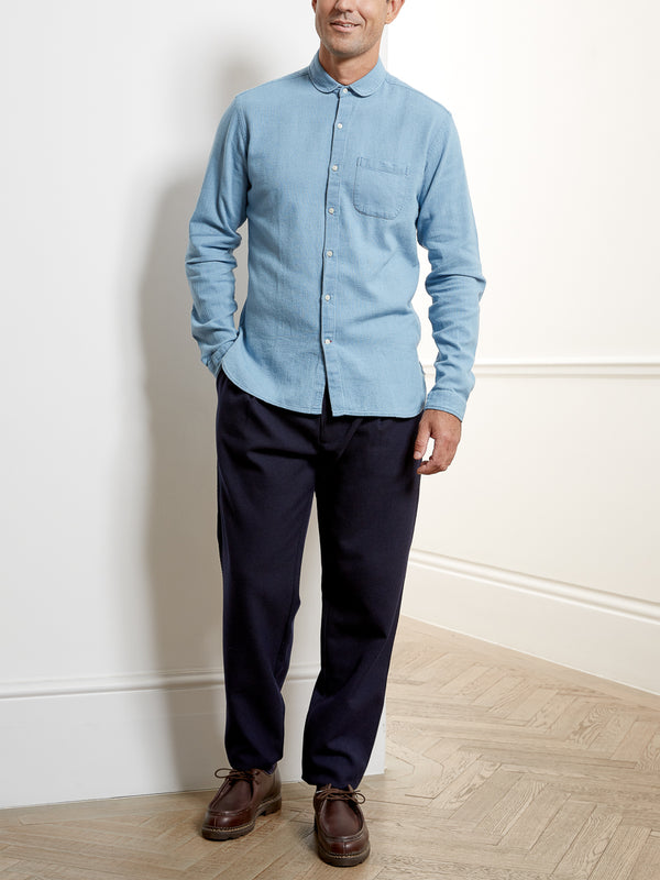 Eton Collar Shirt Kildale Indigo Light