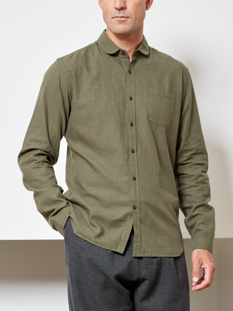 Eton Collar Shirt Cooper Moss Green
