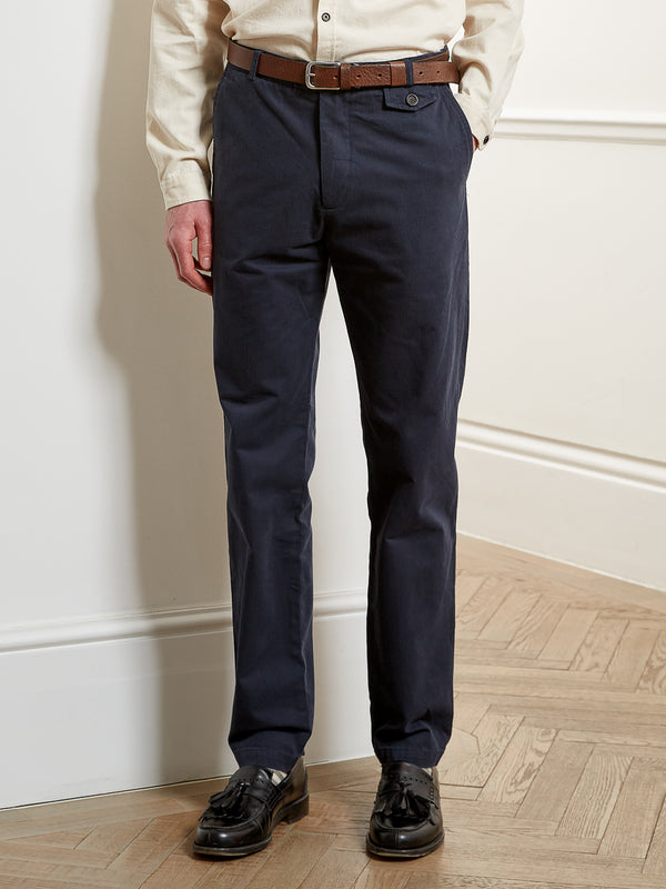 Fishtail Trousers Eden Navy