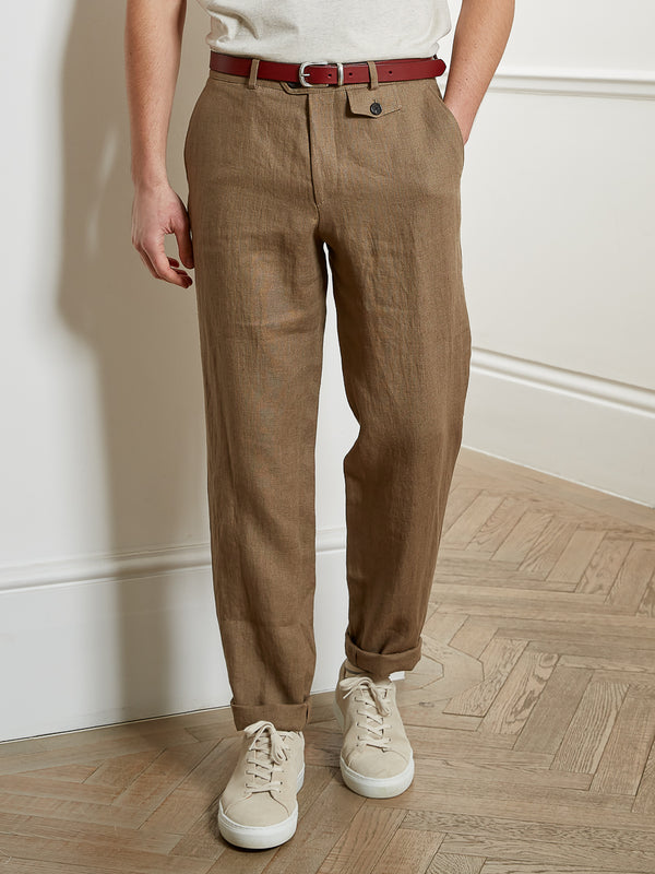 Fishtail Trousers Evering Taupe