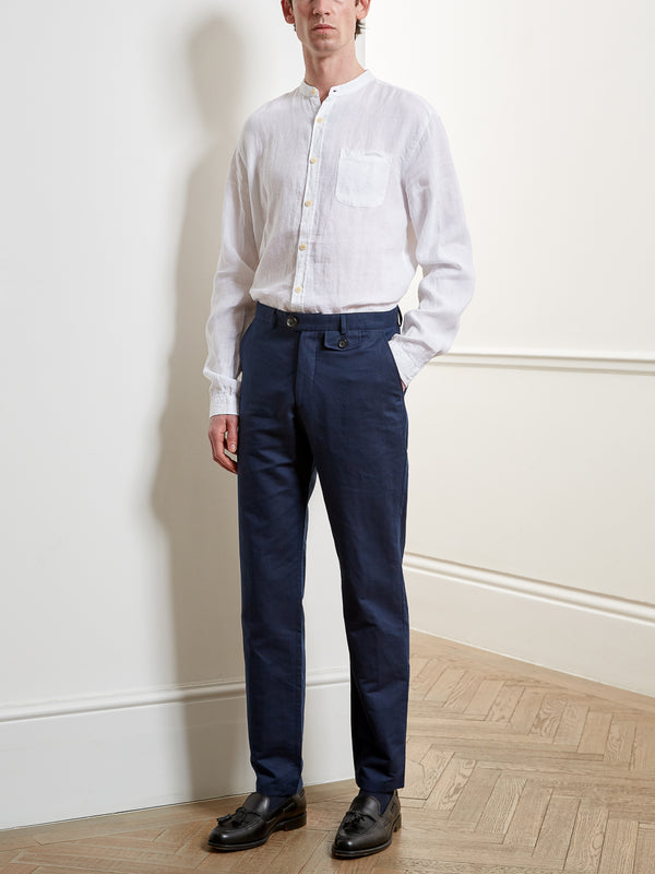 Fishtail Trousers Linton Ink Blue