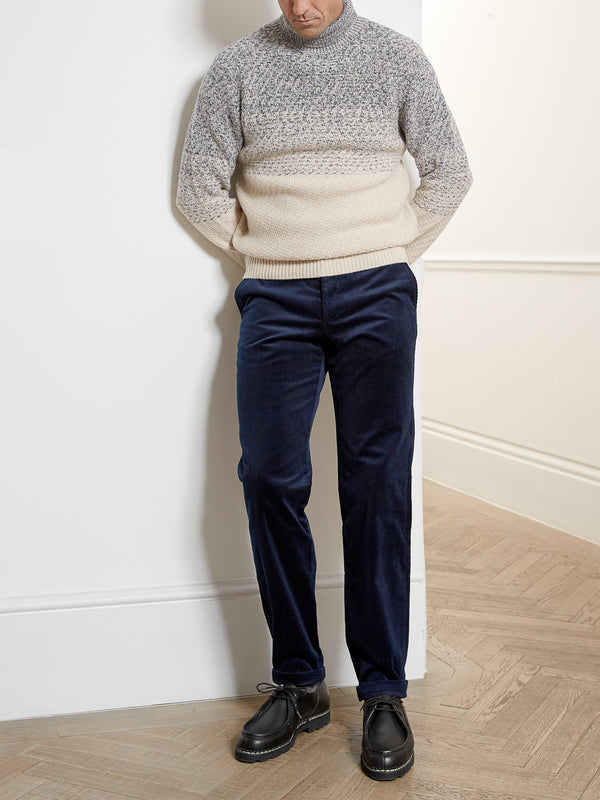 Fishtail Trousers Penton Cord Navy
