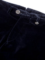 Fishtail Trousers Velvet Navy