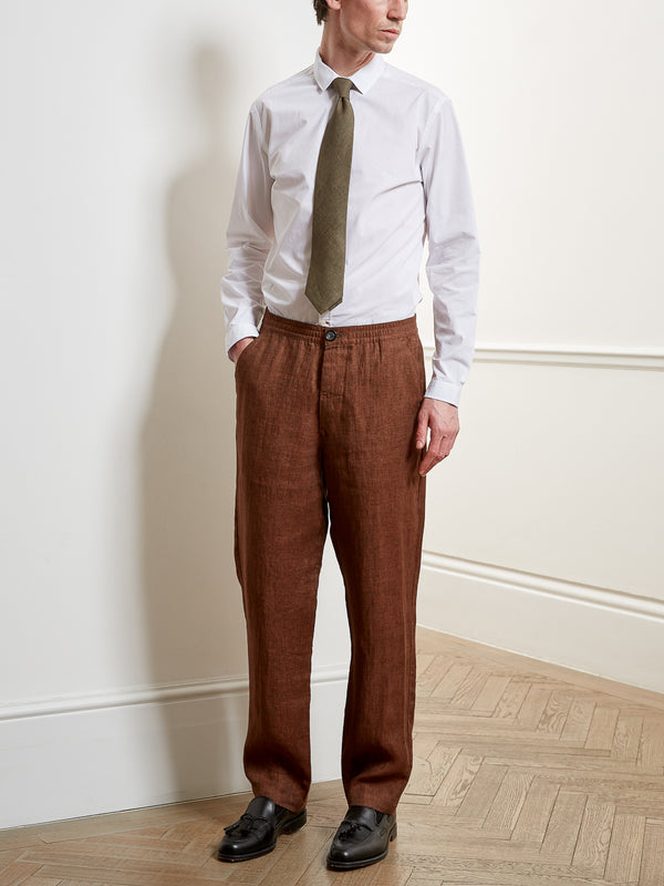 Drawstring Trousers Hadstock Brown
