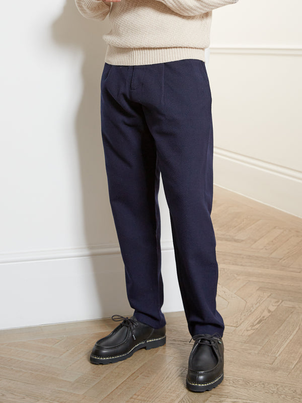 Pleat Trousers Buttress Navy